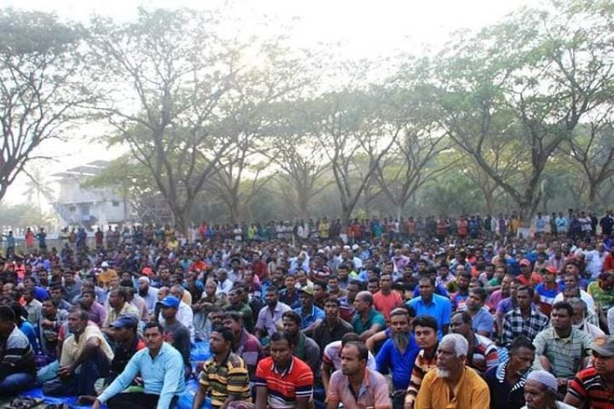Mass gathering of fisherman to save Pashur river and the Sundarbans