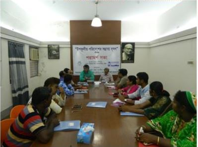 Monitoring and Evaluation meeting in Dhaka together with the activists from Patuakhali, Cox's Bazar and Bagerhat